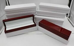 Lot 12 Deluxe Large Red Rosewood Bracelet Watch Box Display Wooden Jewelry Gift