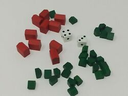 Monopoly Deluxe Original Factory Houses And Hotels + Dice