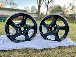 Porsche 911 18 Black Turbo Twist Wheels Free Delivery To East Coast/south