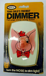 Pink Elephant Light Switch Vintage Dimmer Child Circus 1978 Leviton Wall Bar