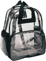 Nufazes Clear Backpack See through Clear Backpacks School Sports Work Security $17.27