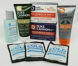 Duke Cannon Lot Soap Face Wash Shaving Cream After Shave Balm Cold Shower New