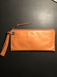 Hobo Women's Purse Leather Wristlet Clutch Purse Vida Dusty Coral NWT $50.00