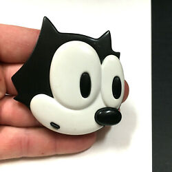 Big 3 Vintage Felix The Cat 1988 Pin Black White Plastic Collectible Oo128i