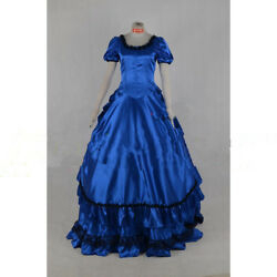 Gothic Victorian Gown With The Vampire Blue Dress Cosplay Dressers Tailor-made
