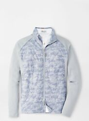 Peter Millar Camo Hyperlight Merge Hybrid Jacket Gale Grey Free And Fast Shipping