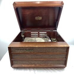 Orthophonic High Fidelity Rca Victor Record Player Mid Century Vintage Wood
