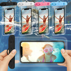 Underwater Waterproof Bag Dry Pouch Cell Phone Clear Case For Diving Swimming $7.59