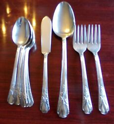 10pcs Rogers 1940 Avalon Or Cabin Pattern Mixed Lot Silverplate No Monos