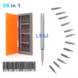 25 In 1 Kit Tool Precision Screwdriver Bits Set For Phone Watch Case Alloy