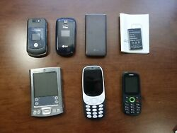 Lot Of Cell Phones, Flip, Basic, Phones, Parts Only, Lg, Motorola, Palm