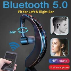 Wireless Bluetooth Handsfree Earphone Earhook Headset For iPhone Samsung Android