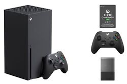 Microsoft Xbox Series X Bundle Extra Controller 3 Month Game Pass Seagate Drive