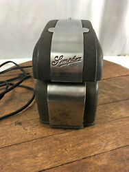 Vintage Simplex Time Recorder Hacg Electric Time Date Clock Stamp Punch