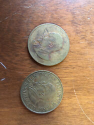 African Coins Republic Of Kenya 10 Cents 1966 And 1971 //