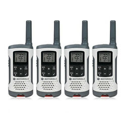 Motorola T260 22 Channel 25 Mile Range Talkabout Frs/gmrs Two Way Radio- 4 Pack