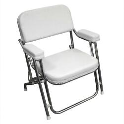 Wise 3316 Series Boaters Value Folding Deck Chair White 24.00x25.00x31.00 In