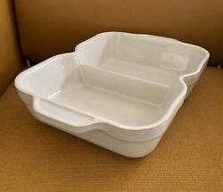"""Denby England 12.5"""" Divided Vegetable Dish Bowl Stoneware Ovenware Discontinued"""