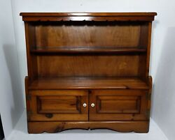 Vintage Solid Pine Wood Cabinet/cupboard Book Shelf Rustic Farmhouse Country