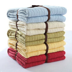 Cotton Knitted Velvet Throw Blankets Winter Warm Thick Blanket Sofa Bed Office