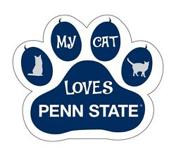 Penn State Nittany Lions Cat Paw Decal-my Cat Loves Penn State Sticker