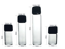 Small Glass Bottles Empty Sample Vials For Essential Oils Perfume Travel Storage