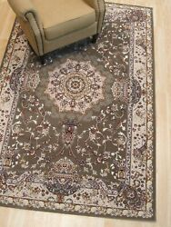 Area Rug Asian Design Brown Carpet 8and039 X 10and039 Polypropylene Traditional Decore