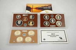 2013-s Us Mint 14 Coin Clad Proof Set W/coa - Free Shipping Usa