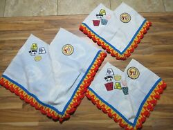 Lot Of 3 Vtg Ymca Coconino Y-indian Maidens Ponchos Handmade Native Patches