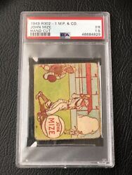 1943 R302-1 M.p. And Co - Johnny Mize - Rookie Rc - Psa 1.5 Fr - Hof - Ny Yankees