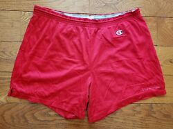 Vintage 90andrsquos Champion Red Gym Shorts Menand039s Xl Basketball Faded Spellout Logo