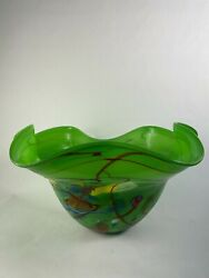 Beautifully Designed Glass Decorative Crafted Bowl Length 23,12