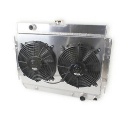 For 63-68 Chevy Bel Air/impala Ss/el Camino/chevelle Performance Radiatorandfans