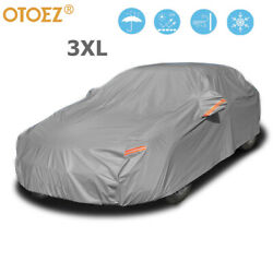 5-layers Full Car Cover Waterproof All Weather Protection Anti-uv Cotton Lining
