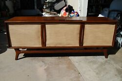 1960's Packard Bell Mid Century Mcm Modern Console Tube Radio Record Player