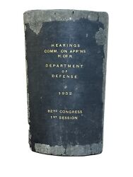1952 Dept Of Defense Hearings 82nd Congress 1st Session Army Navy Air Force