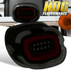 For 16-18 Harley Davidson Cvo Bottom Tag Tombstone Smoke Red Led Tail Light Lamp