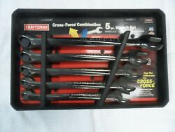 Craftsman Cross Force Sae Wrench Set, Made In Usa, Nos Jumbo - Part 46527