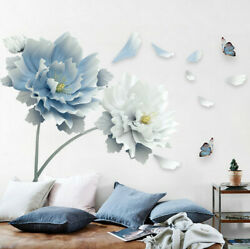 Removable Flowers Living Room Wall Sticker Vinyl Art Mural Wall Decal Home Decor
