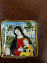 Halcyon Days Enamel Box/ Virgin And The Child
