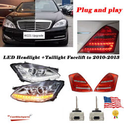2010 2011 2012 2013 Mercedes S600 S Class Upgrade For 06-09 Headlight+taillight