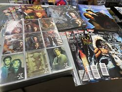 The X-files Binder Of Collectible Cards, Comics, Magazines Collectors Lot