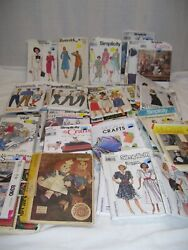Lot Of 90 Mixed Vintage Sewing Patterns 1960s To 2000s Mccalls Simplicity Vogue