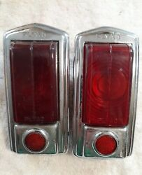 1949 Plymouth Tail Lights Pair Genuine Plyad Left And Right Used Original 28