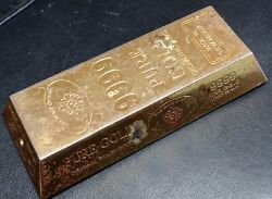 Lighter / Gold Chrome Made In The World Over Collectible Cigar Cigarette Match S