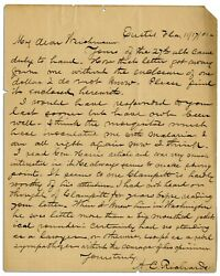 Abe Lincoln Assassination Richards Signed Signature Als