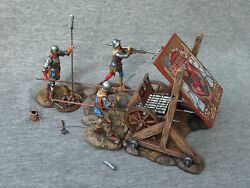 Medieval Gunners 7 Barrel Gun With A Lifting15th Century. Elite Tin Soldier