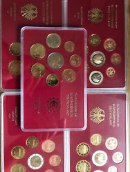 Germany Coins 5x Sets 2003 Proof 1cent To 2€ Euro 40coins Adfgj