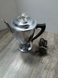 Vintage Hotpoint Coffee Percolator, General Electric 199p57 Chrome Plated Tested