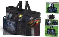 XL Mesh Beach Bags and Totes Extra Large Beach Bag with Zipper and Black $23.04